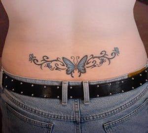 mariposa azul tatoo tribales